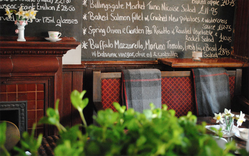 London sustainable cosy pubs and restaurants