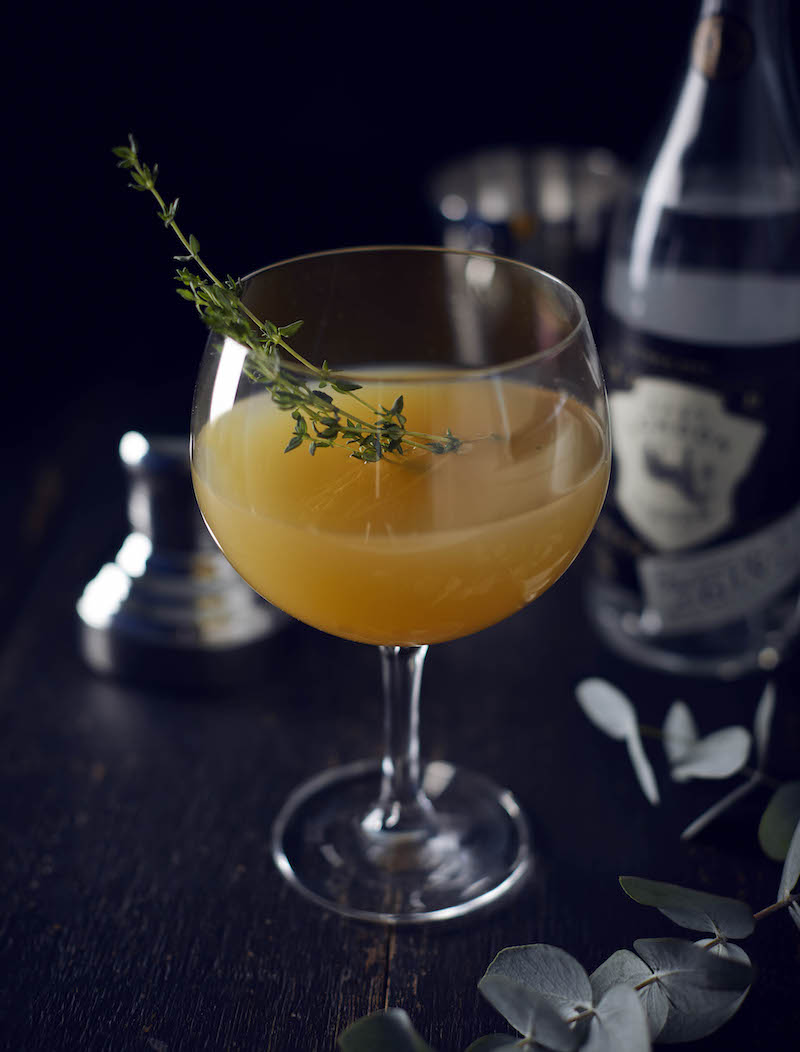 gin thyme cocktail