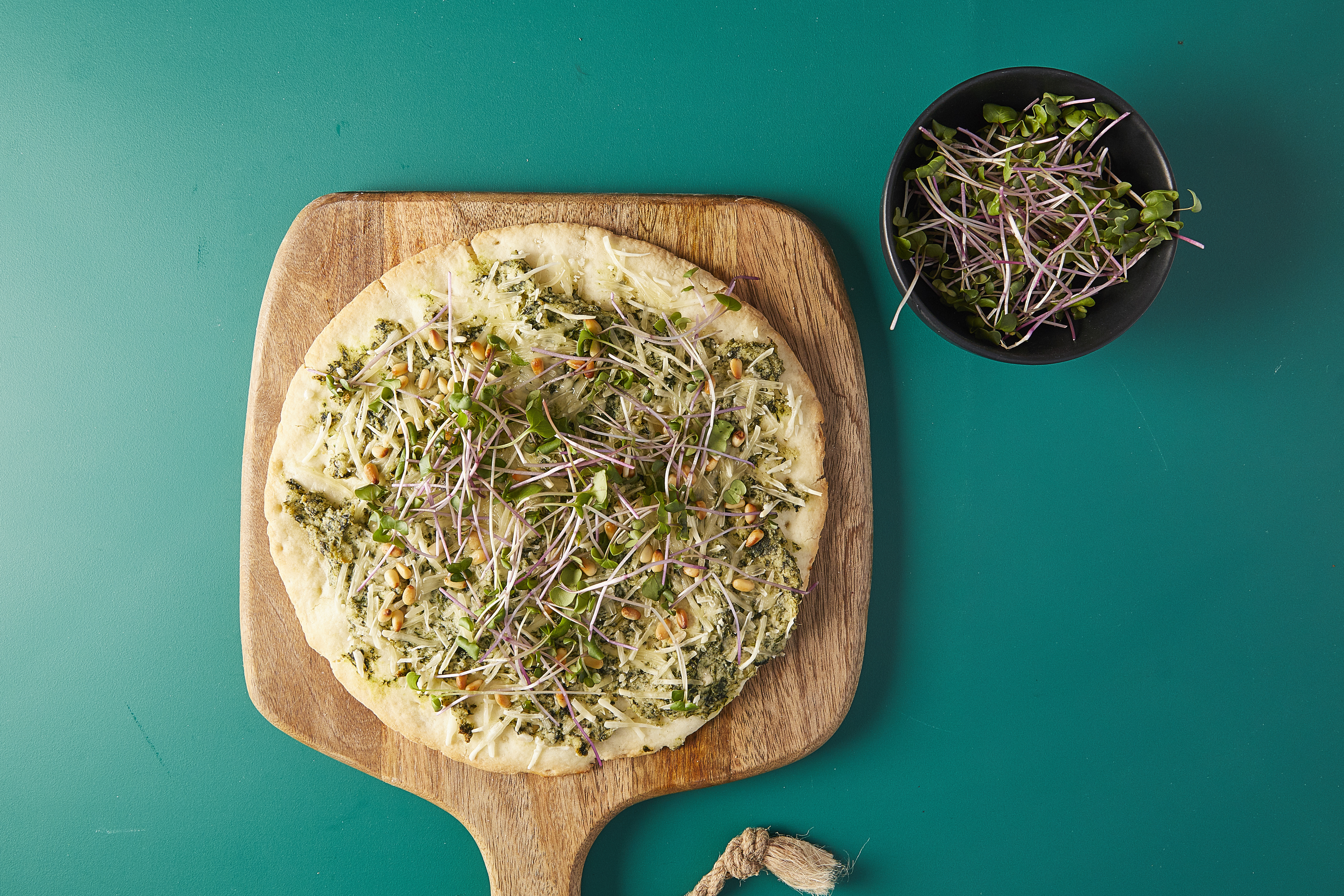 Vegan Feta and Spinach Pizza