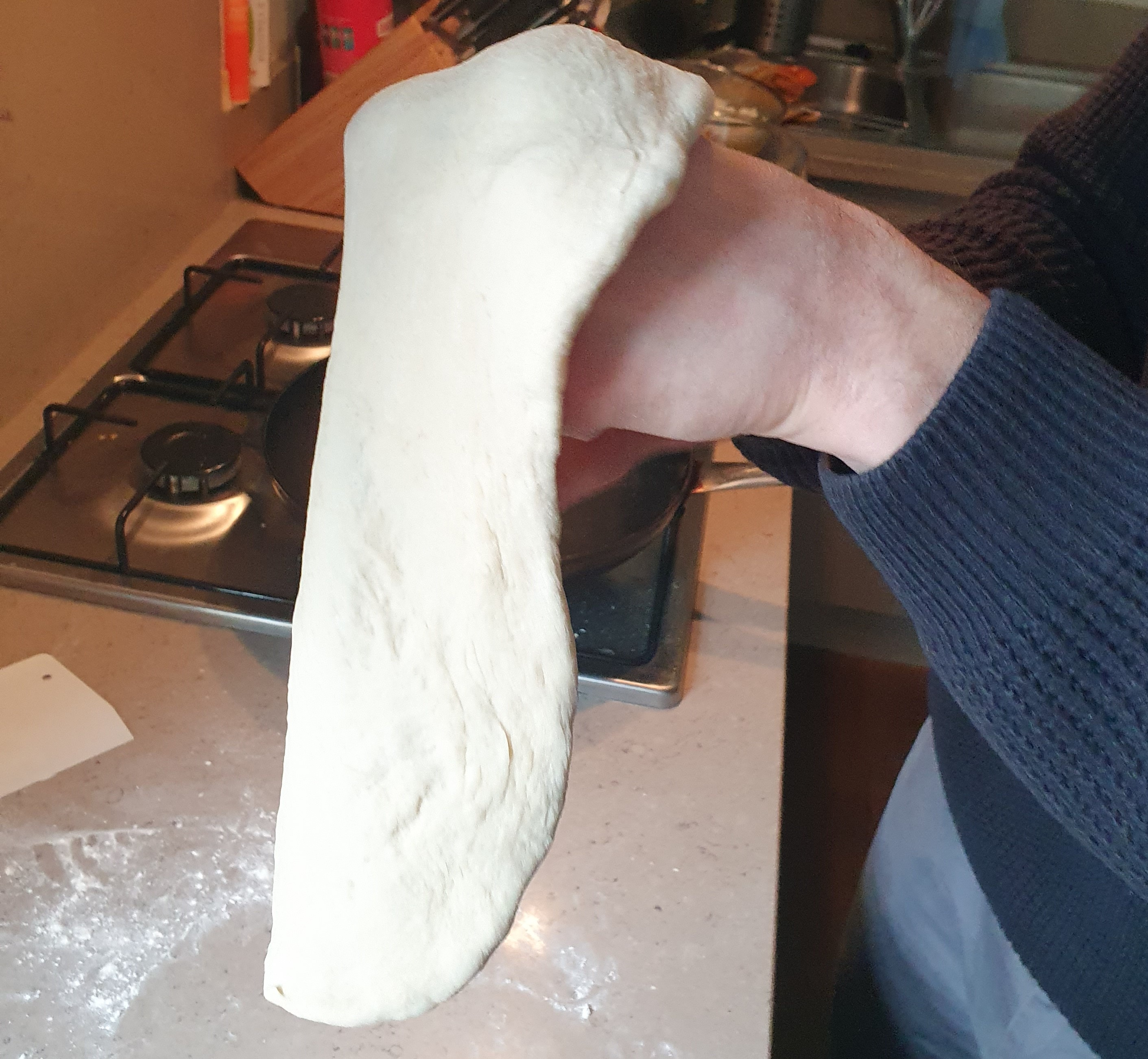 Turning the dough