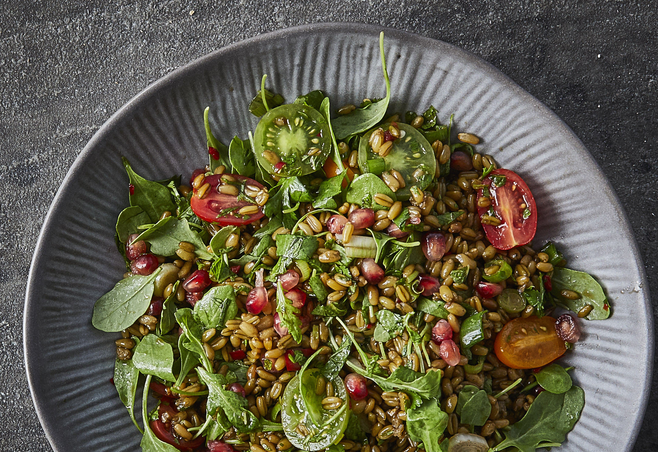 Herby freekeh salad
