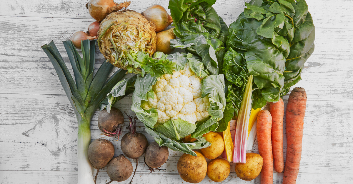 Picture of organic vegetables.